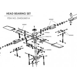 Ceramic bearing upgrade kit for 500 helis (Head)