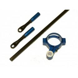 TREX 550E Carbon Tail Pushrod Kit - BLUE