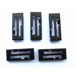Futaba/JR Connector caps (5pcs/set) Black