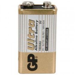 GP 9V Ultra Plus Alkaline Battery