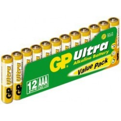 GP Ultra Alkaline AAA Battery Value Pack (12 pcs)