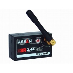 X8R 2.4ghz 8ch Receiver V2 with ext. antenna