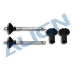 ALIGN T-REX 450 L / Pro - Torque Tube Rear Drive Gear Set -