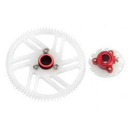 CNC Delrin Main Gear w/ Hub set (RED) - T-REX 150 DFC