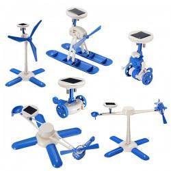 6 IN 1 Solar Toy DIY Robots Plane Educational Kid