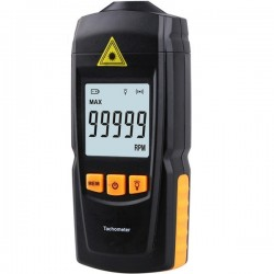 Non-Contact Handheld LCD Digital Laser Tachometer RPM Tach