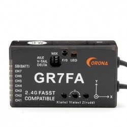 GR7FA 7CH S.BUS Receiver With Gyro Compatible Futaba FASST