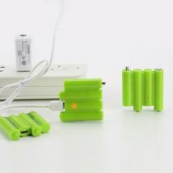ZNTER 4 In 1 6V 310mAh USB Rechargeable AAA Li-Po Battery