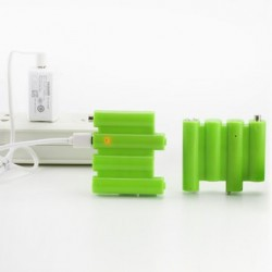 ZNTER 4 In 1 6V 740mAh USB Rechargeable AA Li-Po Battery