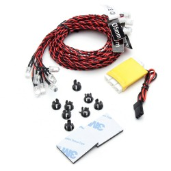 8 LED Flashing Light Lines System For RC Airplane Car Models