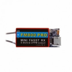 FM800 PRO 2.4G 8CH Mini Receiver Support SBUS CPPM Compatible with FUTABA FASST For RC Multirotor