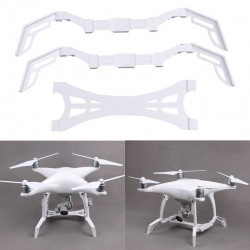 Extend Tall Landing Gear Skid Camera Protect Gimbal White For DJI Phantom 4 FPV