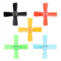 2 Pairs Racerstar 1535 38mm 4 Blade ABS Propeller 1.5mm Mounting Hole For 60-80 FPV Racing Frame