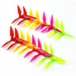 10 Pairs Kingkong 5051 Single Color 3-blade CW CCW Propeller 5.0mm Mounting Hole for FPV Racer
