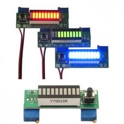 Power Indicator Display Led Board For 2.4V-20V Lipo Battery DIY