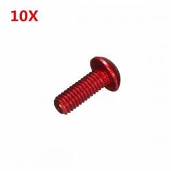 10Pcs Aluminum Alloy M3×6mm Hex Socket Screws Round Head Cap Screws Red