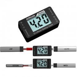 AOKoda AOK-041 1S Lithium Battery Tester Checker For JST MOLEX mCPX MCX Plug Battery