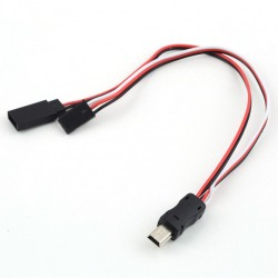 USB TO AV FPV Video Output Cable 5V DC Power Input BEC for Gopro Hero 3 4