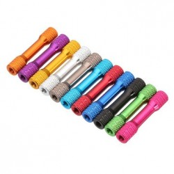 Suleve™ M3AR3 10Pcs M3 35mm Knurled Standoff Aluminum Alloy color