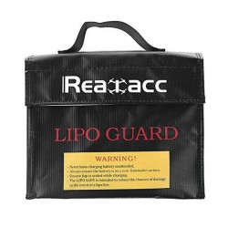 Realacc Fireproof Waterproof LiPo Battery Safety Bag 240x180x65mm With Luminous Handle