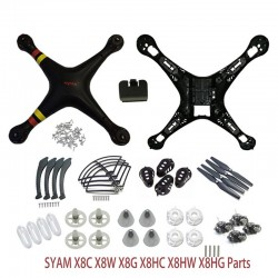 SYMA X8/X8C/X8W/X8G/X8HC/X8HW/X8HG Plastic Parts Main Body Shell Cover And Gear Propeller Protective Frame Landing Gear