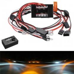 8Leds LED Light kit Set Brake Turn Signal For 2.4G 1/10 RC Car Parts Accessories