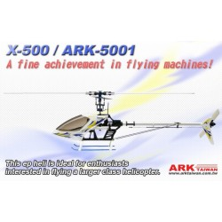 X-500 PRO CCPM EP HELICOPTER/ARK-5001(ARF 85% Assembled)