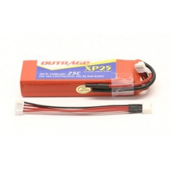 OUTRAGE XP25 3S1P 11.1V 1600mAH 25C - XTREME SERIES