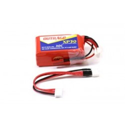 OUTRAGE XP30 3S1P 11.1V 860mAH 30C/ BRICK-XTREME for T-REX250