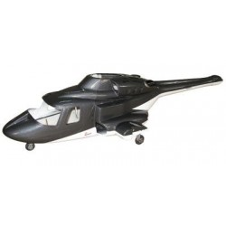 Fusuno 500 Airwolf Scale Body w/gear - GREY