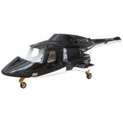 Fusuno 600 Airwolf Scale Body - BLACK