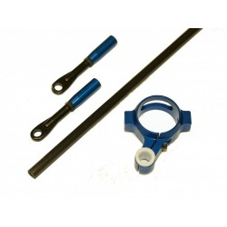TREX 550E Carbon Tail Pushrod Kit - BLUE
