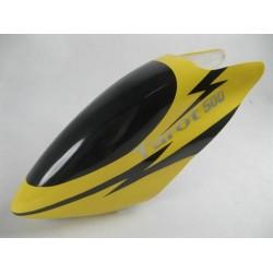 Tarot 500 Fiberglass Canopy / Yellow Lightning