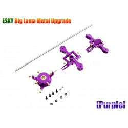 Alloy Metal Rotor Head Upgrade Kit For Esky Big Lama (Purple)