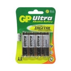 GP Ultra Alkaline AA Battery (4 Pack)