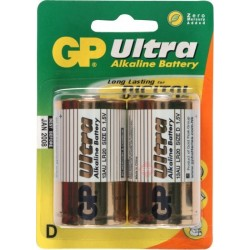 GP Ultra 13AU U2 - Battery 2 x D type Alkaline