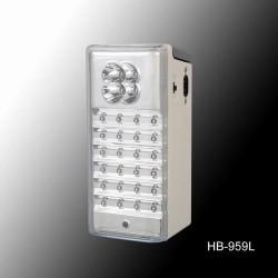 Φωτιστικό Ασφαλείας HB-959l 4+24LED Επαναφορτιζόμενο