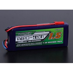 Turnigy nano-tech 1500mAh 2S1P 20~40C Lipo Receiver Pack