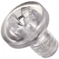 Transparent Polycarbonate Screws M3x4mm