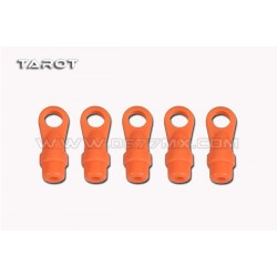 Tarot 450/500DFC Ball Link Ends (Neon Orange, 5pcs)