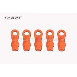 Tarot 450/500DFC Ball Link Ends (Neon Orange, 5pcs)