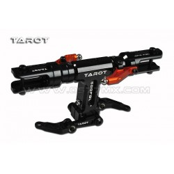 TAROT 500FBL New Rotor Head Set/ Black/ Orange Extension Arm