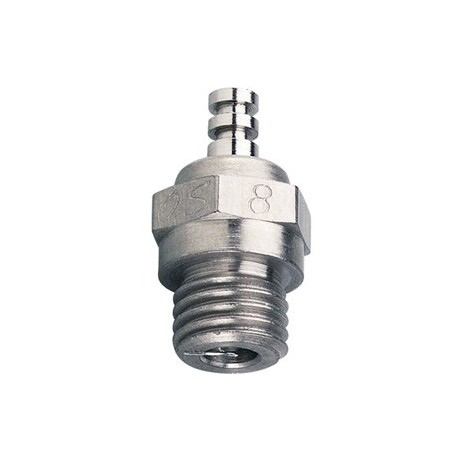O.S. No.8 Glow Plug Long Medium Hot