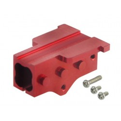 Aluminum Tail Boom Mount (RED) (for MH Frame T-REX 150 DFC)