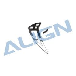 Align 550L Carbon Fiber Vertical Stabilizer-White - H55T002XXW