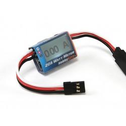Compact 20A Watt Meter and Servo Power Analyzer