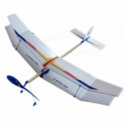 Glider Rubber Band Elastic Powered Flying Plane Airplane Fun