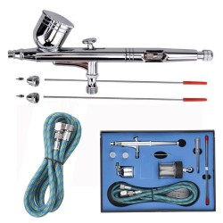 0.2/0.3/0.5mm Needle Air Brush Spray Gun Paint Art Dual Action Airbrush Set