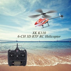 XK Blast K110 6CH 3D 6G System Brushless Motor RTF RC Helicopter