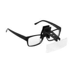 Folding Eyeglass Clip On Flip Loupe Magnifying Glass Handsfree Precise Magnifier Creative Design